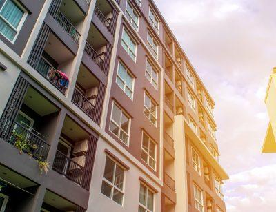 Exterior of a condo building