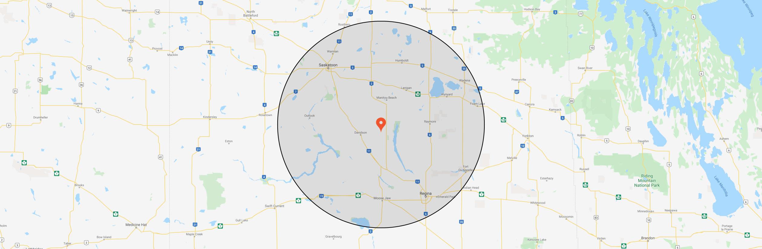 Saskatchewan service area